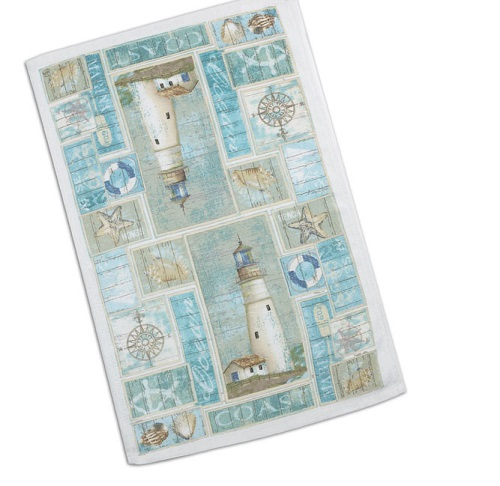 Kay Dee (R2350) Coastal Lighthouse Terry Towel