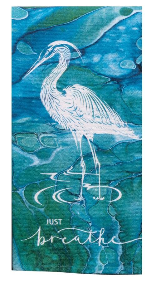 Kay Dee (R7000) Coastal Tranquility Just Breathe Dual Purpose Terry Towel