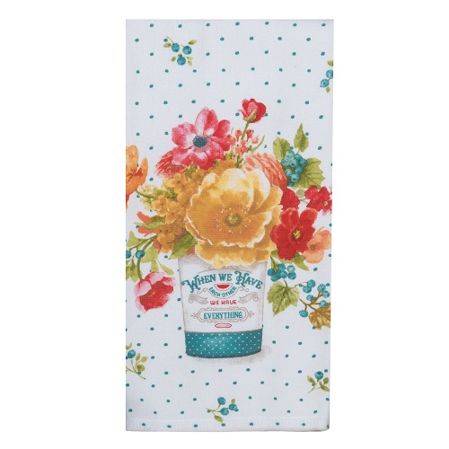 Kay Dee (R4700) Country Fresh Large Floral Dual Purpose Terry Towel
