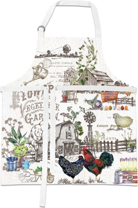 Michel Design Works (APR334) Country Life Apron