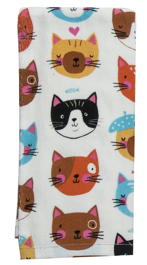 Kay Dee (R3820) Crazy Cat Terry Towel