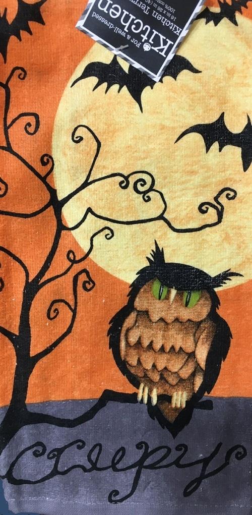 Kay Dee (H2950) Creepy Owl Terry Towel
