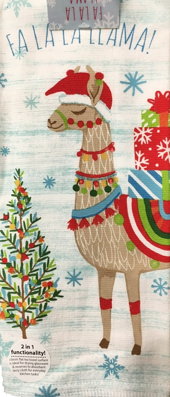 Kay Dee (H3420) Fa La La Llama Dual Purpose Terry Towel