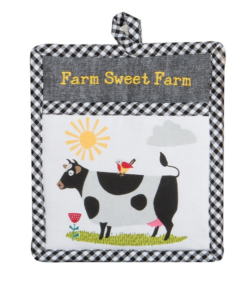 Kay Dee (R4822) Farm Charm Cow Pocket Mitt