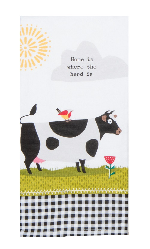 Kay Dee (R4820) Farm Charm Cow Dual Purpose Terry Towel