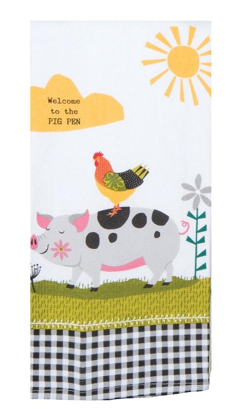 Kay Dee (R4840) Farm Charm Pig Dual Purpose Terry Towel