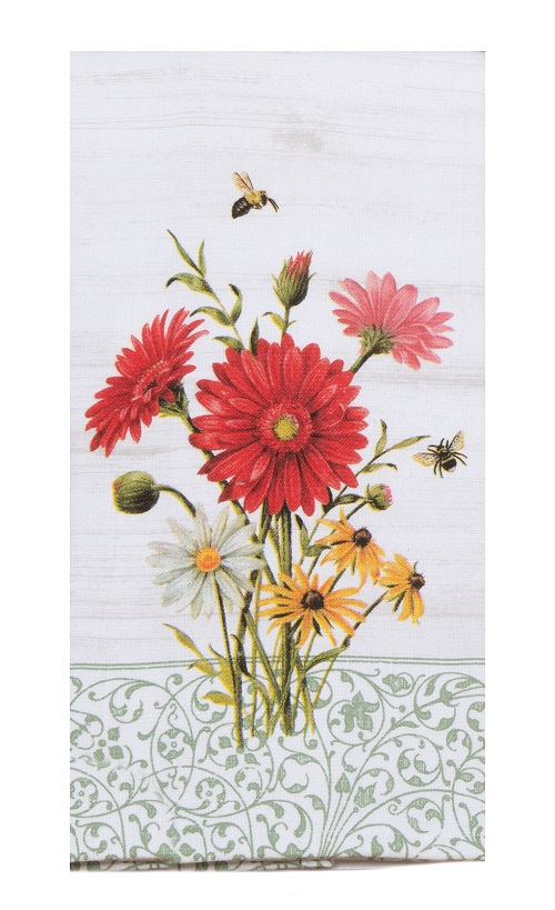 Kay Dee (R4410) Floral Buzz Dual Purpose Terry Towel