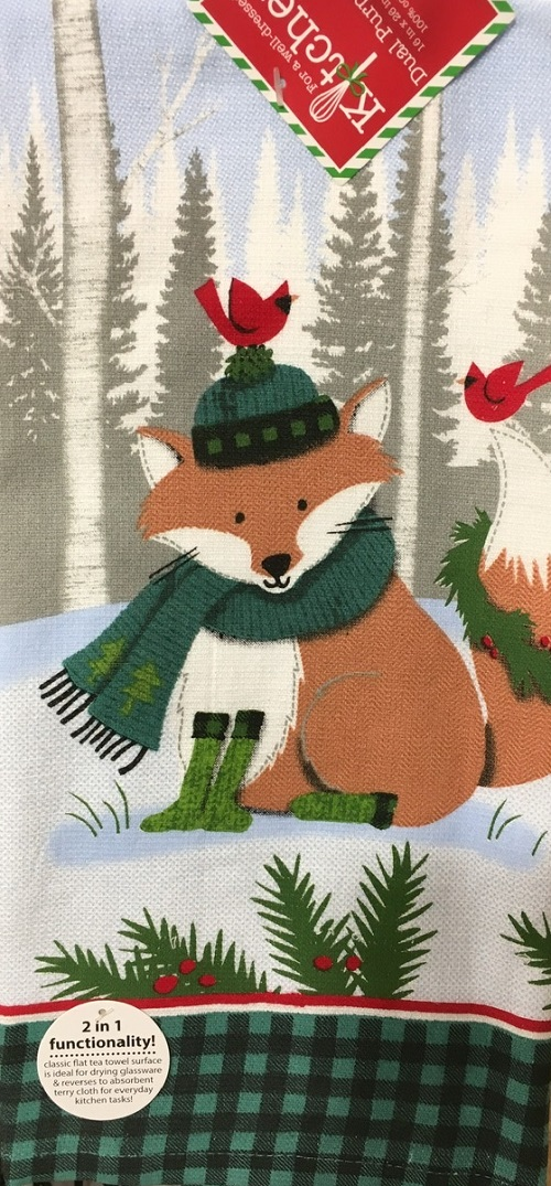 Kay Dee (H3600) Forest Friends Fox Dual Purpose Terry Towel