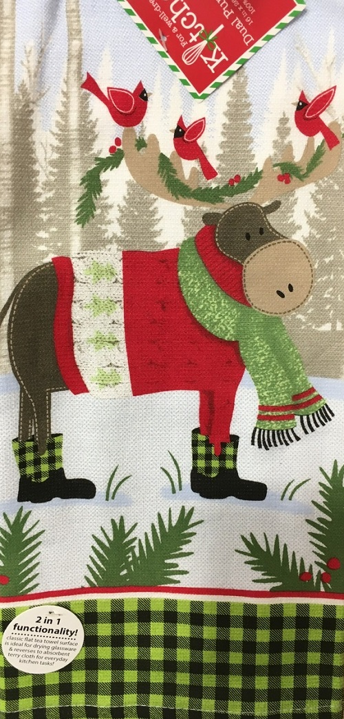 Kay Dee (H3600) Forest Friends Moose Dual Purpose Terry Towel