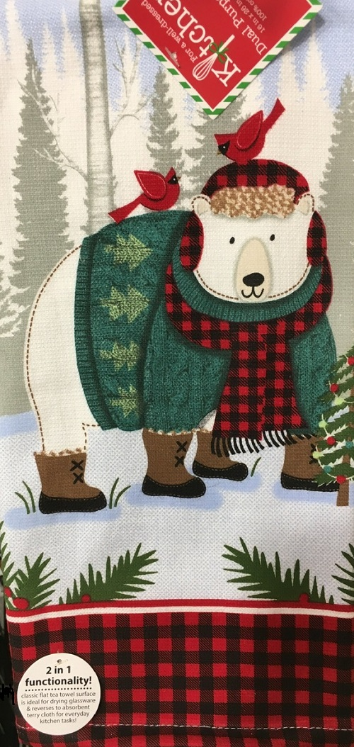 Kay Dee (H3600) Forest Friends Polar Bear Dual Purpose Terry Towel