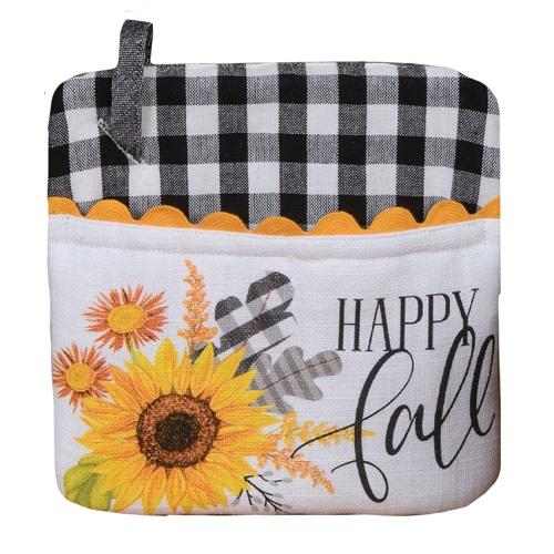 Kay Dee (H3792) Gingham Sunflower Pocket Mitt