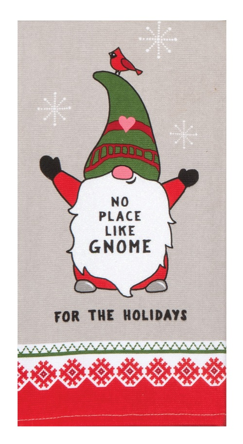 Kay Dee (H3696) Gnome For The Holidays Dual Purpose Terry Towel