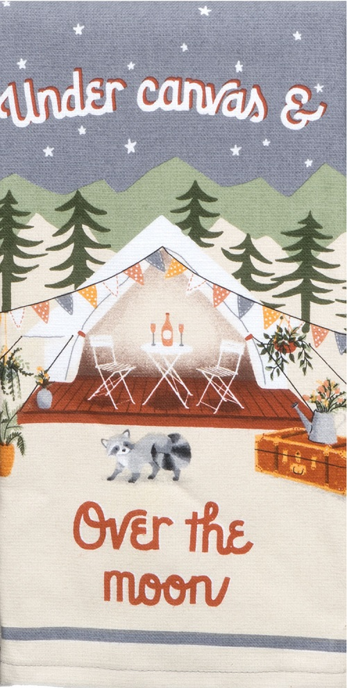 Kay Dee (R5260) Gone Glamping Over The Moon Dual Purpose Terry Towel