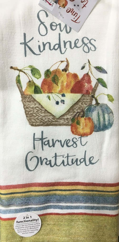 Kay Dee (H3520) Time To Share Sow Kindness Dual Purpose Terry Towel