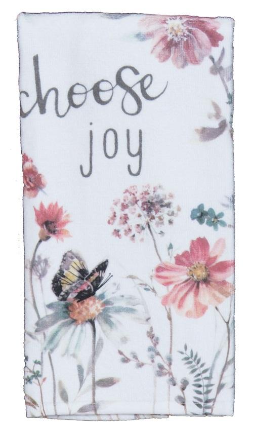 Kay Dee (R4100) Handmade Choose Joy Blush Terry Towel