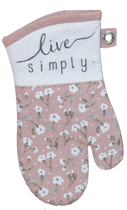 Kay Dee (R4105) Handmade Live Simply Blush Embroidered Oven Mitt