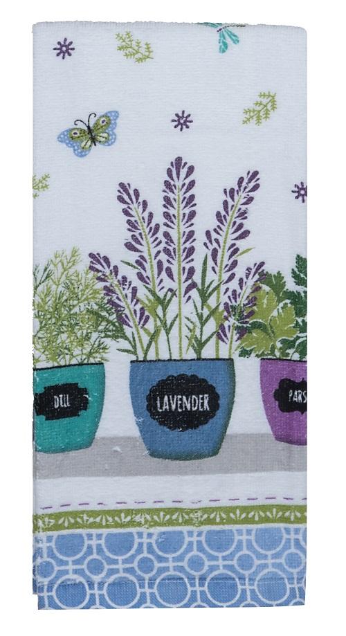 Kay Dee (R4130) Herb Garden Pots Terry Towel