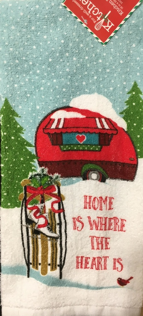 Kay Dee (H3223) Home For Holidays Terry Towel