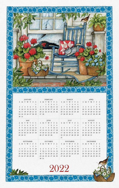 2022 NEW Linen Calendar Towel (21491)