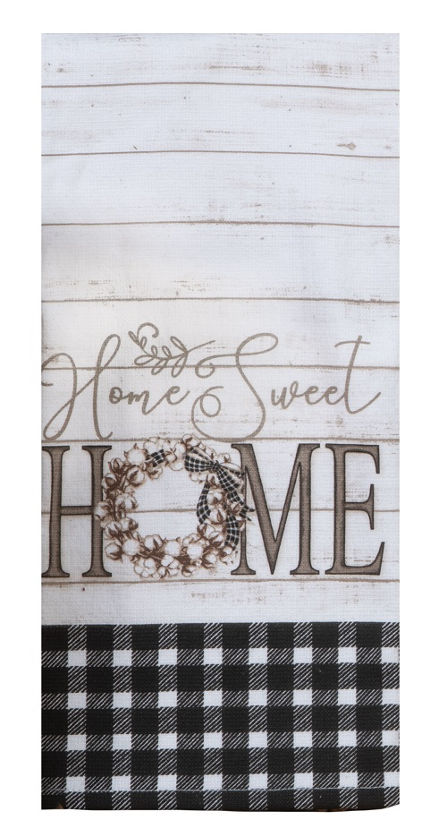 Kay Dee (R4870) Home Sweet Home Dual Purpose Terry Towel