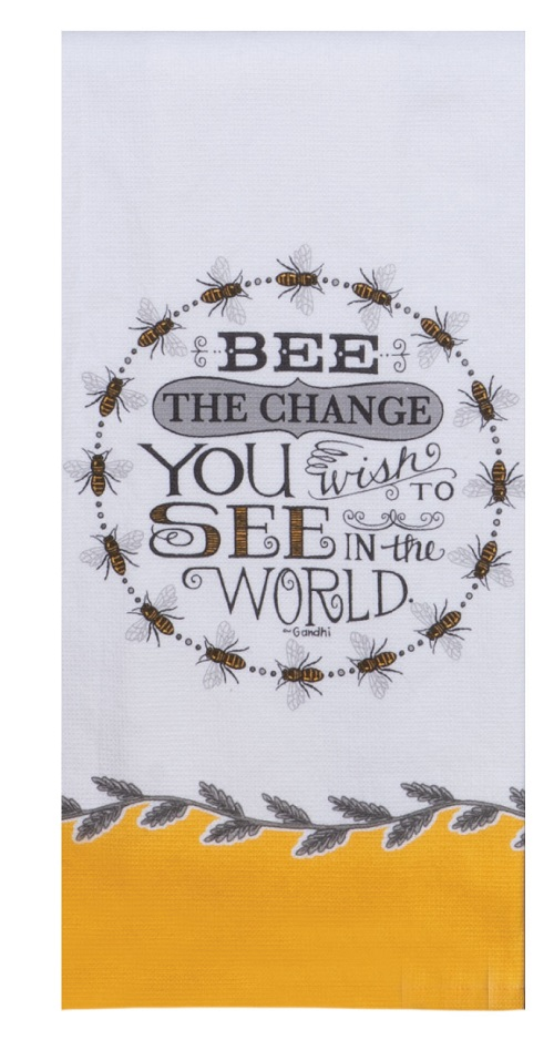 Kay Dee (R5817) Just Bees Bee the Change Dual Purpose Terry Towel