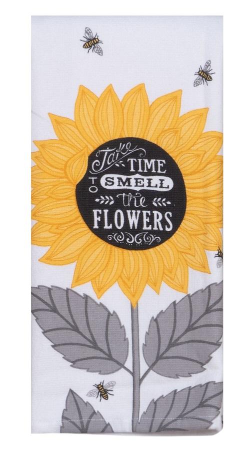 Kay Dee (R5816) Just Bees Flowers Dual Purpose Terry Towel