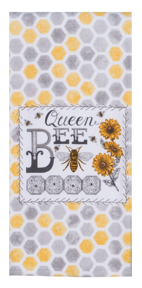 Kay Dee (R5810) Just Bees Queen Bee Dual Purpose Terry Towel