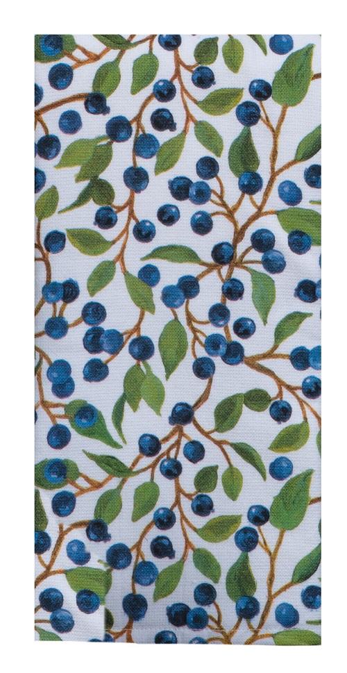 Kay Dee (R5930) Lakeside Retreat Blueberries Dual Purpose Terry Towel