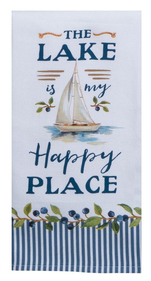 Kay Dee (R5910) Lakeside Retreat Happy Place Dual Purpose Terry Towel