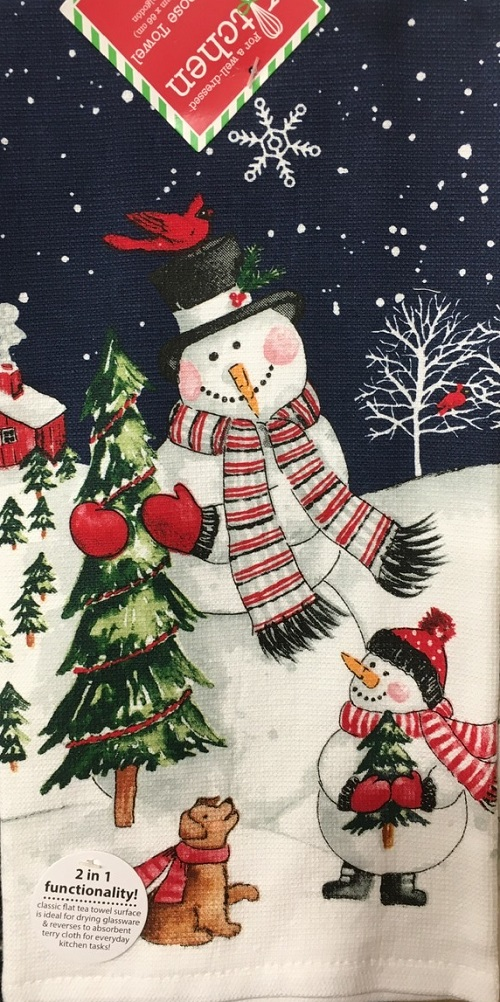 Kay Dee (H3640) Let It Snow Dual Purpose Terry Towel
