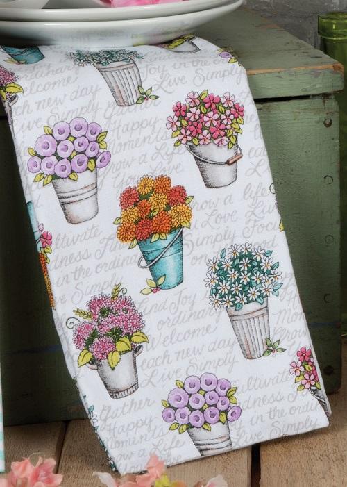Kay Dee (R4860) Live Simply Flowers Dual Purpose Terry Towel