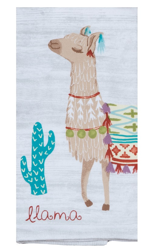 Kay Dee (R4740) Lovely Llama Dual Purpose Terry Towel