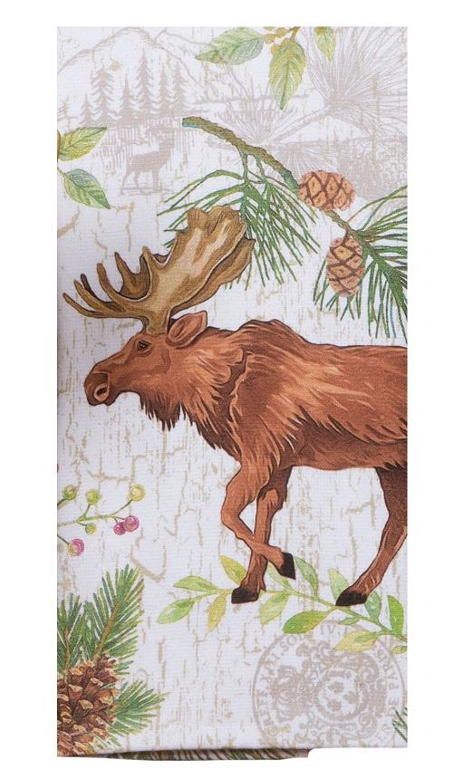 Kay Dee (R4340) Pinecone Trails Moose Dual Purpose Terry Towel