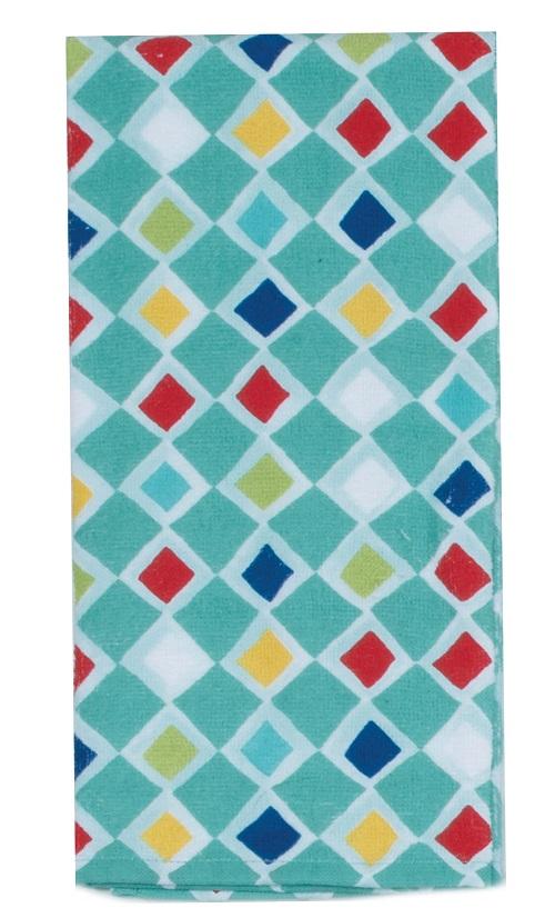 Kay Dee (R3350) Cactus Garden Geo Terry Towel