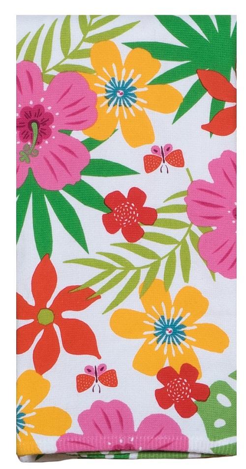 Kay Dee (R5336) Summer Fun Floral Toss Dual Purpose Terry Towel