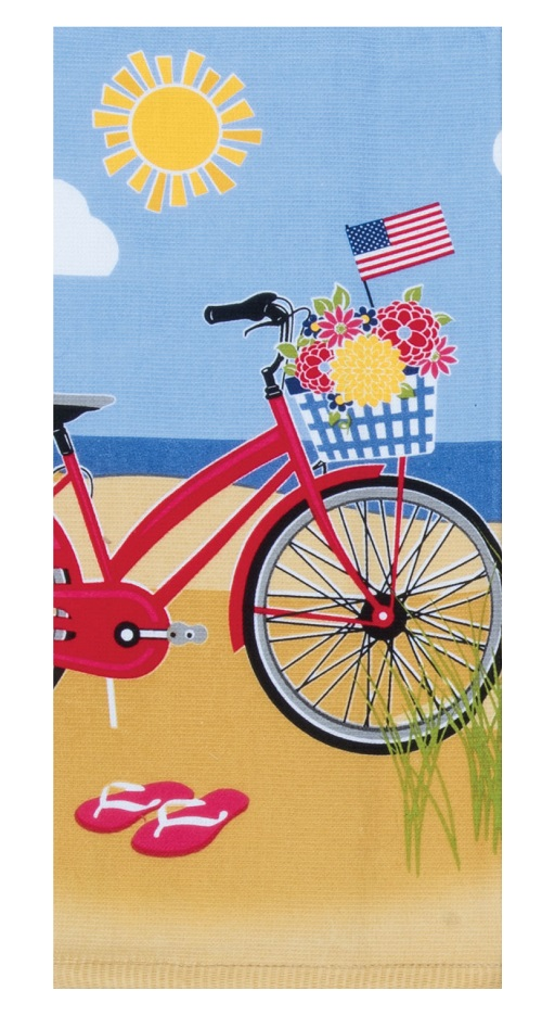 Kay Dee (R5340) Summer Vibes Beach Bike Dual Purpose Terry Towel