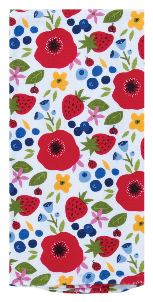Kay Dee (R5342) Summer Vibes Bloom Dual Purpose Terry Towel