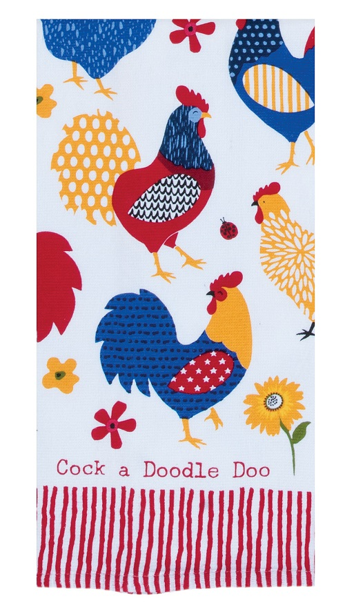 Kay Dee (R5345) Summer Vibes Cock A Doodle Doo Dual Purpose Terry Towel