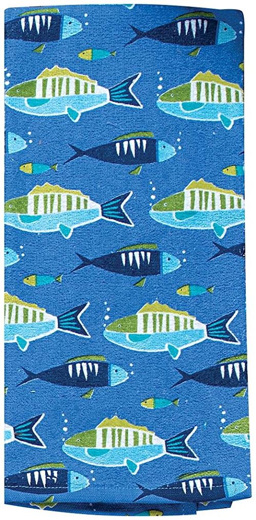 Kay Dee (R4090) Saltwater Fish Terry Towel