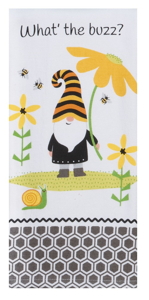 Kay Dee (R7150) Save The Gnomes What's The Buzz Dual Purpose Terry Towel