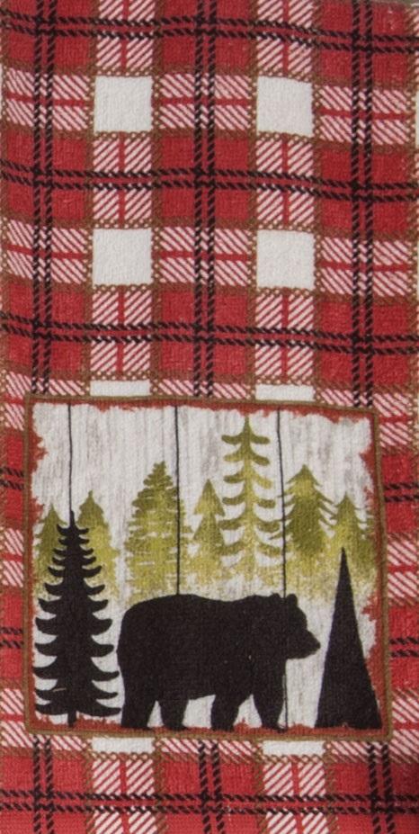 Kay Dee (R3310) Simple Living Bear Terry Towel