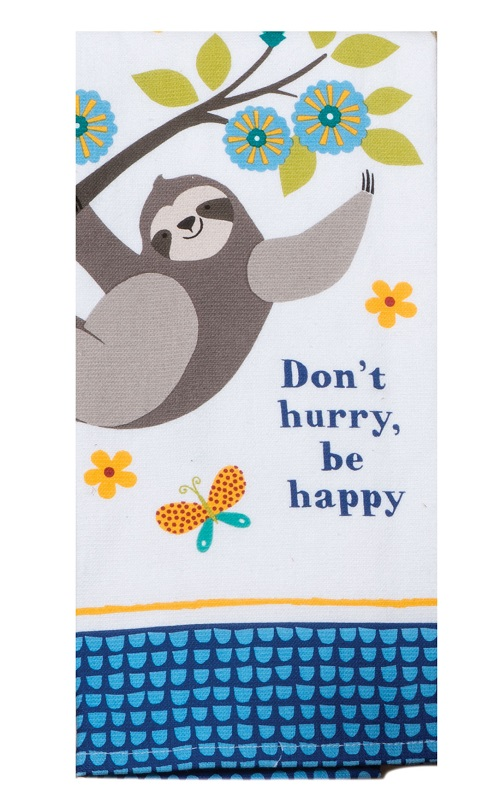 Kay Dee (R4790) Slow Sloth Dual Purpose Terry Towel