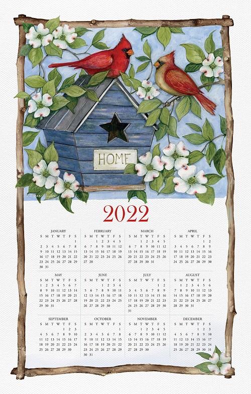 2022 NEW Linen Calendar Towel (21514)