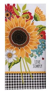 SunflowerCharmDualPurposeTerryTowelLittle