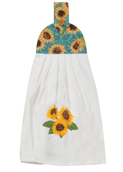 SunflowerFieldsTieTowelLarge