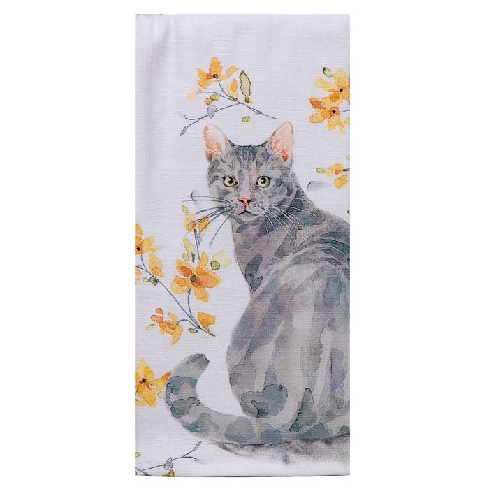 Kay Dee (R4881) Sweet Home Cat Dual Purpose Terry Towel