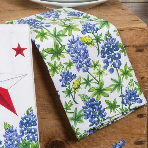 Kay Dee (R4328) Texas Star Bluebonnets Dual Purpose Terry Towel
