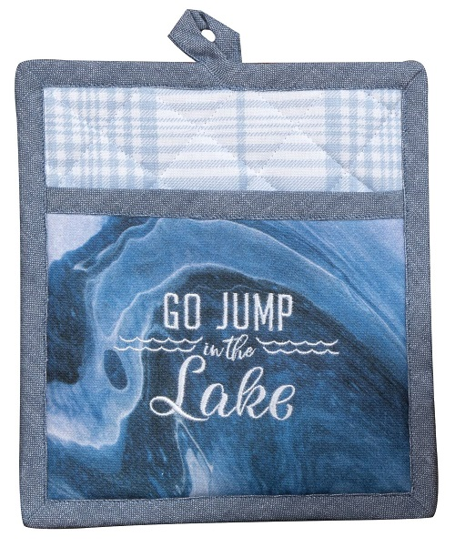 Kay Dee (R6772) Tranquility Lake Embroidered Pocket Mitt