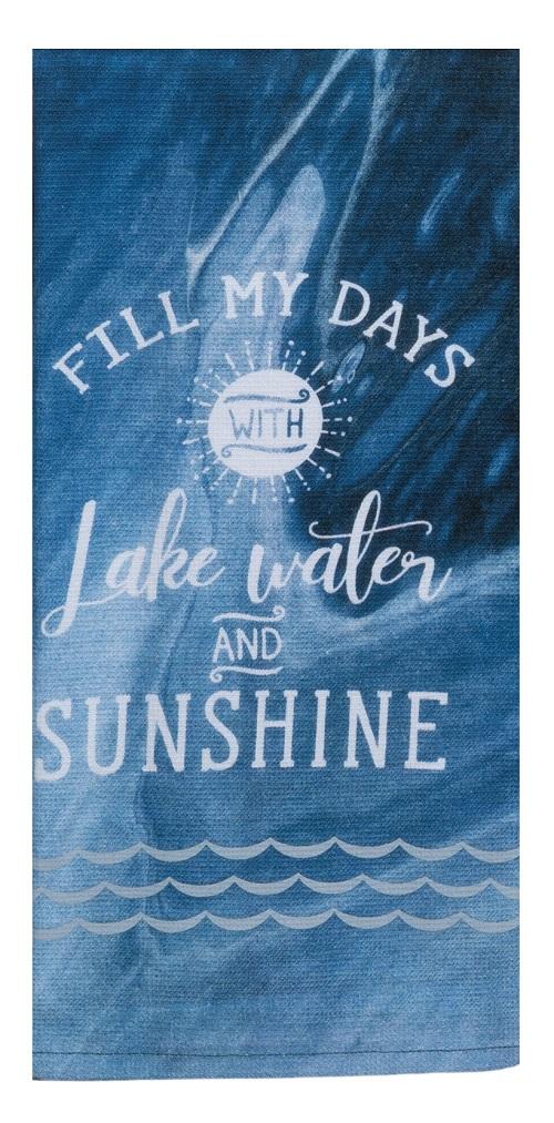 Kay Dee (R6771) Tranquility Lake Water Sunshine Dual Purpose Terry Towel