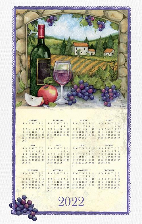2022NEW  Linen Calendar Towel (21521)